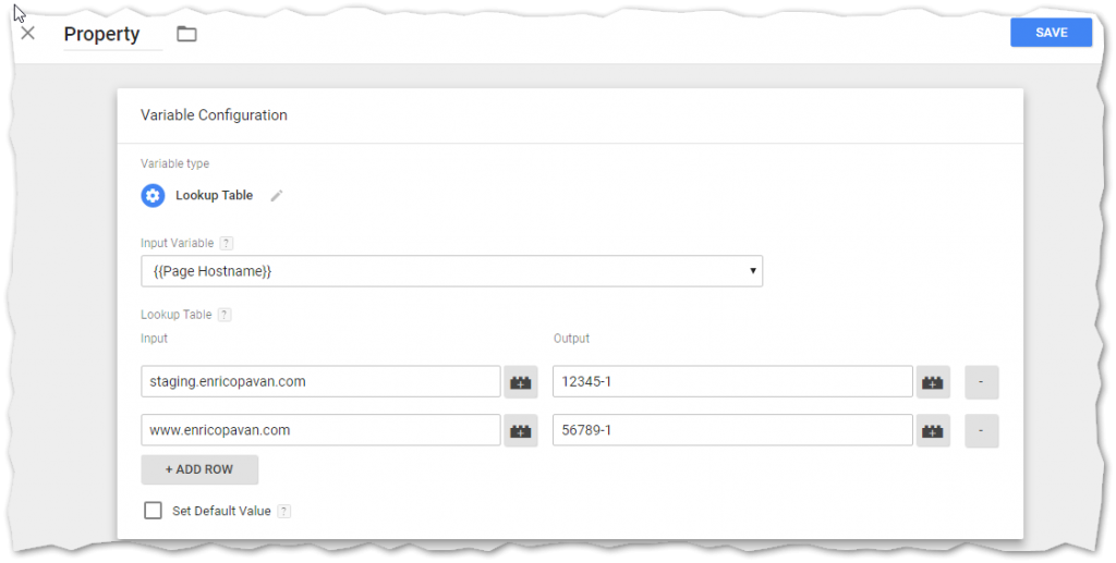 How to create lookup tables in google tag manager for 1005 can t create table