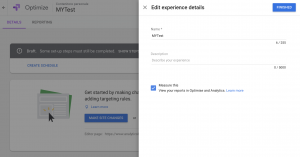 Google Optimize Personalization - Measure This