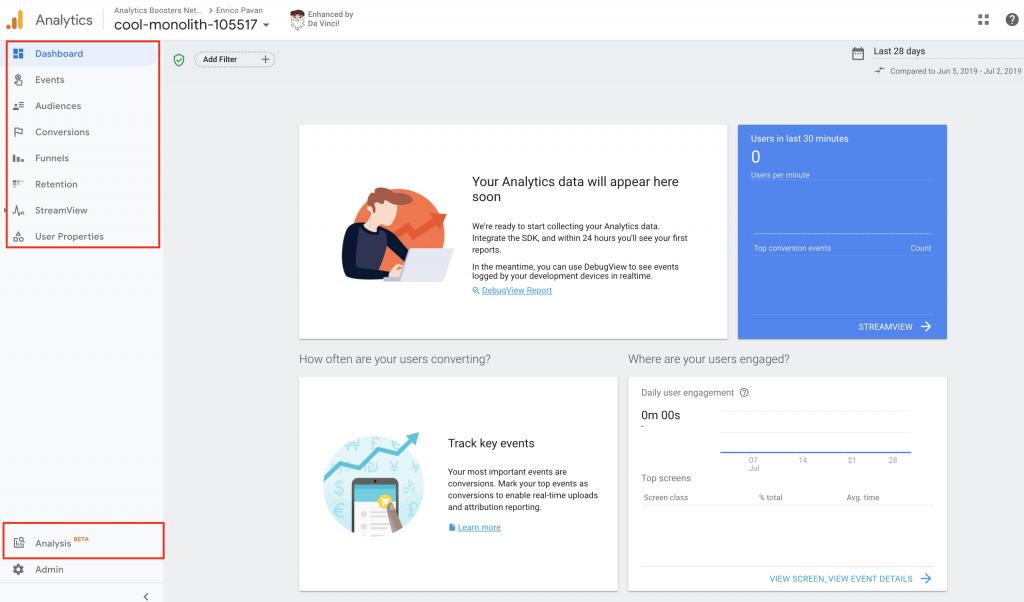 Google Analytics News: Unifying App+ Web property